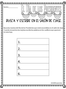 El Día de los Presidentes -Reader en Español