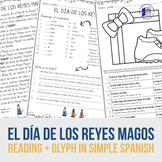 El Día de los Reyes Magos simple reading and glyph