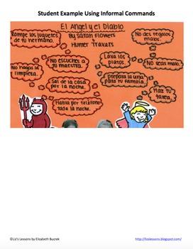 El Diablo y El Angel! Spanish Imperative Posters and Activities