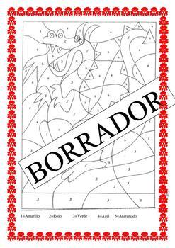 El Dragon in Spanish- Color by Number K-6- Medieval Age