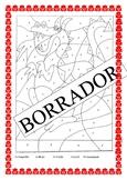 El Dragon in Spanish- Color by Number K-6- Medieval Ages