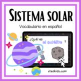 El Espacio | Vocabulario del sistema solar | Boom Cards