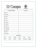 El Esqueleto- Label Body Parts in Spanish- Back to School