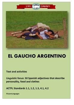 El Gaucho Argentino - 30 Spanish adjectives
