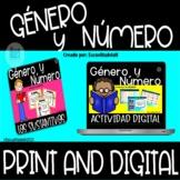 El Genero y Numero de los Sustantivos Print and Digital Di