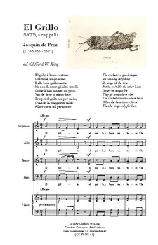 El Grillo - Josquin - Score