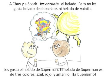 El Helado de Superman: A Comprehensible Story in Beginner's Spanish