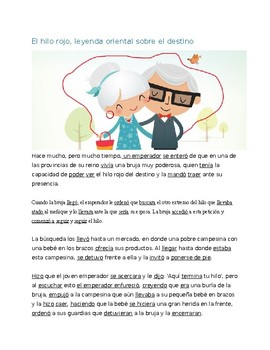 El Hilo Rojo Leer By Te Digo Todo Teachers Pay Teachers