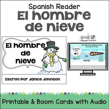 El Hombre de Nieve Spanish Snowman reader {en español} for Winter