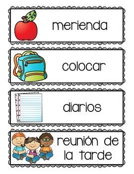 El Horario: [Spanish] Schedule Cards