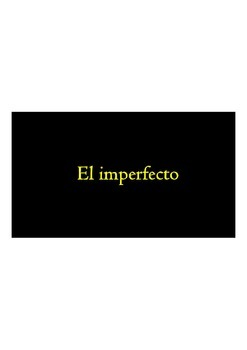 El Imperfecto - Canten las reglas - Sing the Imperfect rules