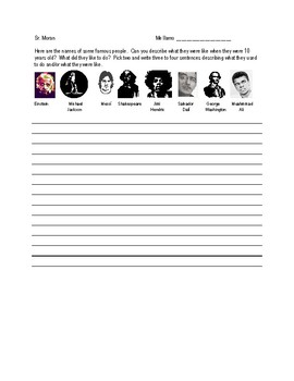 El Imperfecto - Describing famous people using the imperfect