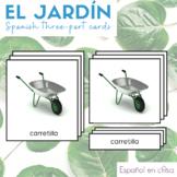 El Jardin 3 Part Cards - Spanish Garden Montessori Cards