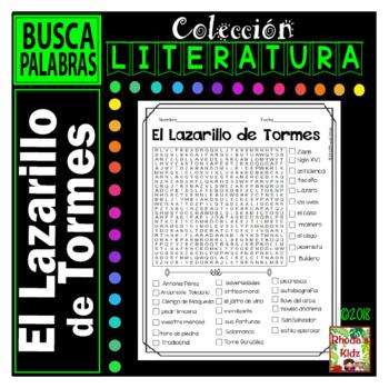 El Lazarillo de Tormes  -Word search