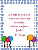 El Lorax Quote - Spanish Poster - Earth Day & El medio ambiente - A Menos Que...