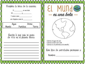 El MUNDO Booklet Español. Ciencias, vocabulario la tierra. Spanish science earth