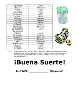El Menú Español