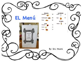 El Menu, Menu in Spanish