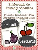 El Mercado Frutas y Verduras Spanish Printable Dramatic Play Set