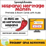 El Mes de la Herencia Hispana Reader & BOOM Cards with Aud