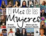 El Mes de las Mujeres Spanish Warm-ups - 20 Women's Month