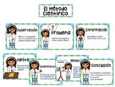El Método Científico (niña) / Spanish Scientific Method Posters (blue)