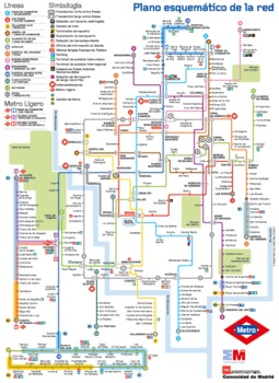 Metro de Madrid  PowerPoint lesson metro map activity and QR