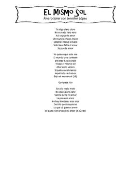 El Mismo Sol Song Packet