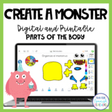 Spanish Parts of the Body: El Monstruo (Printable and Digital)