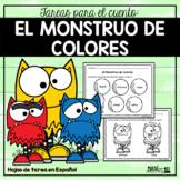 El Monstruo de Colores - Spanish Worksheets