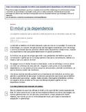 AP Spanish. Tecnología. El Móvil y La Dependencia. Lectura