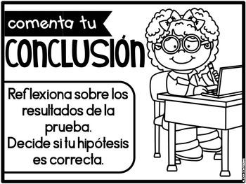 El Método Científico (Scientific Method Anchor Charts Spanish)