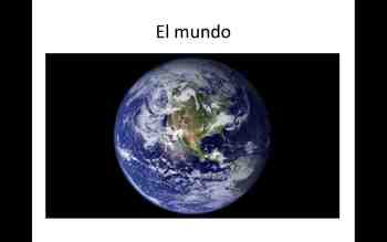 El Mundo - Spanish Nature Vocabulary and Irregular Verbs (stem-change O->UE)