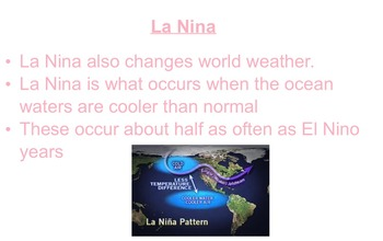 El Nino and La Nina flipchart