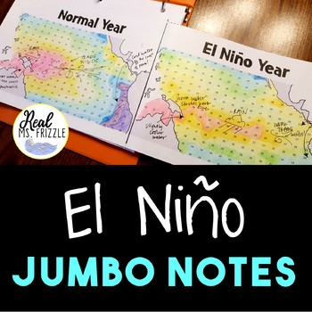 El Niño and Southern Oscillation (and La Niña!) JUMBO Notes and Color-by-Number