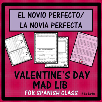 El Novio Perfecto - Mad Lib for Valentine's Day