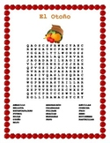 Spanish Fall -OTOÑO-Word Search in Spanish & Double Puzzle
