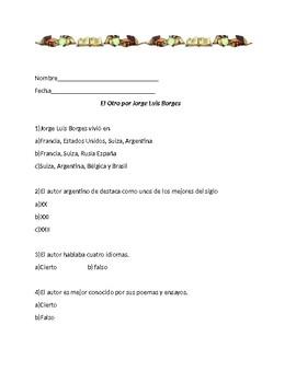 El Otro por Jorge Luis Borges (quiz)