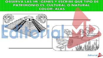 El Patrimonio (Tipos de Patrimonio) MATERIAL PARA IMPRIMIR