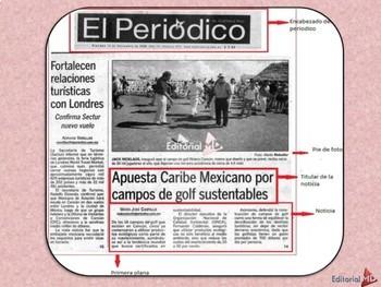 El Periódico para Niños y las Notas Periodísticas MATERIAL PARA IMPRIMIR