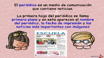El Periodico para Niños y las Notas Periodísticas MATERIAL PARA IMPRIMIR