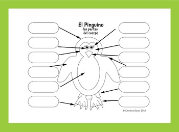28 spanish worksheets partes del cuerpo el pinguino las partes del cuerpo spanish. Black Bedroom Furniture Sets. Home Design Ideas
