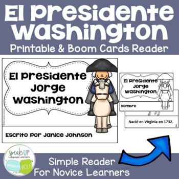 El Presidente Washington Spanish Reader & Timeline {President's Day}
