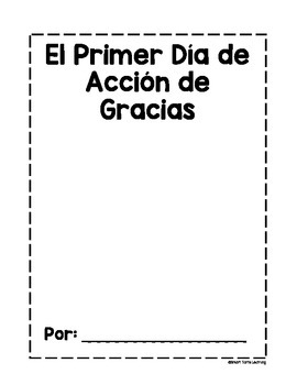 El Primer Día de Acción {The First Thanksgiving Cloze Passage Art Book } Spanish