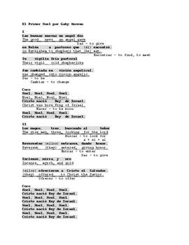El Primer Noel (First Noel) by Gaby Moreno. Spanish Song w English Translation