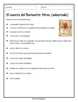 El Ratoncito Pérez - The toothfairy is a mouse! - Diminutive and Imperfect Tense