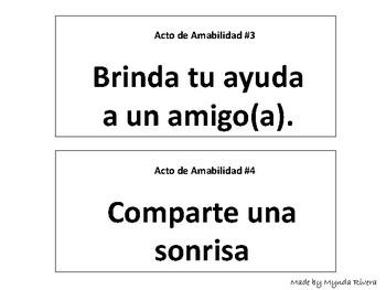 El Regalo de la Amabilidad (Kindness Challenge in Spanish)