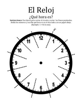 "El Reloj ""Foldable"" for Spanish Time"