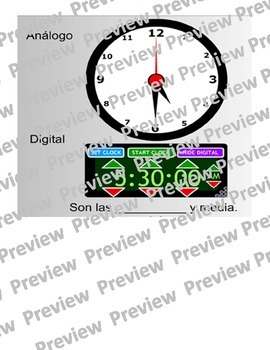 Clock Smart Board (Spanish)