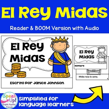 El Rey Midas Spanish King Midas Reader~Simplified for Lang